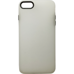 Чехол силиконовый матовый iPhone 7/8 (бело-черный)