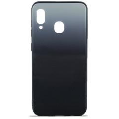 Чехол Glass Case Gradient Samsung A20 / A30 (Steel Grey)