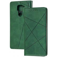 Книга Business Leather Xiaomi Redmi Note 9 (зеленый)