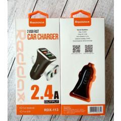АЗУ Reddax RDX-113 (2,4A) 2 USB (Black)