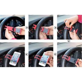 Автомобильный держатель на руль 1019 (разный цвет)