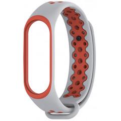 Ремешок для Xiaomi Band 3/4 Mijobs Sport (silver-red)