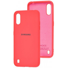 Чехол Silicone Case Samsung Galaxy A01 (коралловый)
