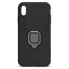 Чехол Armor + подставка iPhone XS Max (черный)