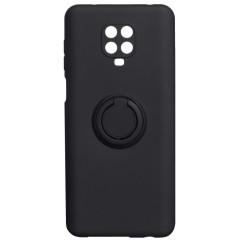 Чехол Ring Color Xiaomi Redmi Note 9s/9 Pro (черный)