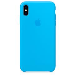 Чехол Silicone Case iPhone Xs Max (голубой)