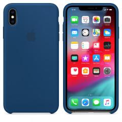 Чехол Silicone Case iPhone Xs Max (синий)