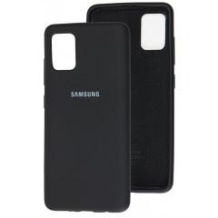 Чехол Silicone Case Samsung Galaxy A51 (черный)