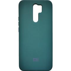 Чехол Silicone Case Xiaomi Redmi 9 (темно-зеленый)