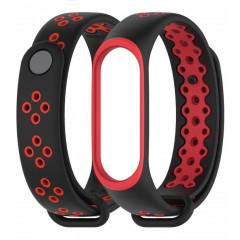 Ремешок для Xiaomi Band 3/4 Mijobs Sport (black-red)