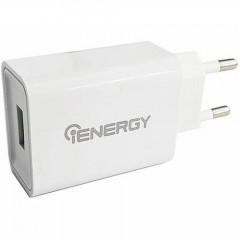 Сетевое зарядное устройство iENERGY HC-27 2.4A (белый) + кабель Lightning