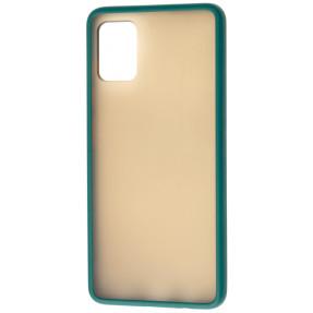 Чехол LikGus Maxshield матовый Samsung Galaxy A31 (зеленый)