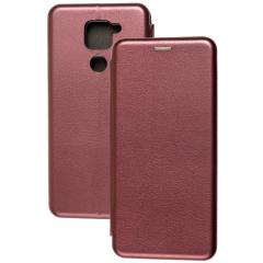 Книга Premium Xiaomi Redmi Note 9 (бордовый)