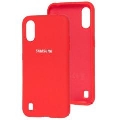 Чехол Silicone Case Samsung Galaxy A01 (красный)