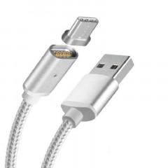 Магнитный кабель Magnetic Cable Type-C (серебряный)