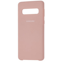 Чехол Silky Samsung Galaxy S10 (бежевый)