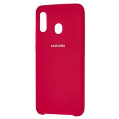 Чехол Silky Samsung Galaxy A20/A30 (малиновый)