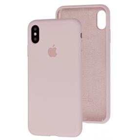 Чехол Silicone Case iPhone Xs Max (бежевый)