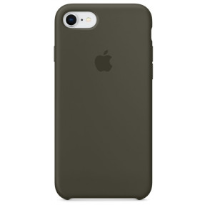 Чехол Silicone Case iPhone 7/8/SE 2020 (темно-серый)