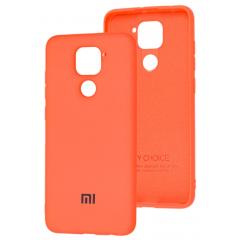 Чехол Silicone Case Xiaomi Redmi Note 9/10X (оранжевый)