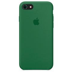 Чехол Silicone Case iPhone 7/8/SE 2020 (темно-зеленый)