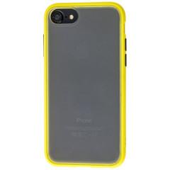 Чехол LikGus Maxshield матовый iPhone 7/8 (желто-черный)