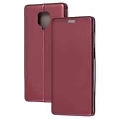 Книга Premium Xiaomi Redmi Note 9s/Note 9 Pro (бордовый)