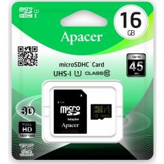 Карта памяти Apacer micro SD 16gb (10cl) + adapter