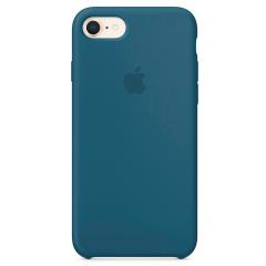 Чехол Silicone Case iPhone 7/8/SE 2020 (синий)