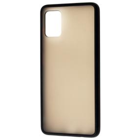 Чехол LikGus Maxshield матовый Samsung Galaxy A31 (черный)