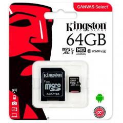 Карта памяти Kingston micro SD 64gb (10cl) + adapter