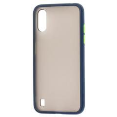 Чехол LikGus Maxshield матовый Samsung Galaxy A01 (темно-синий)