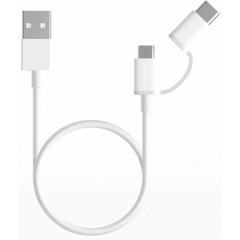 Кабель Mi 2in1 USB Cable Micro/Type-C 0.3m (белый)