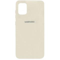 Чехол Silicone Case Samsung Galaxy A31 (молочный)