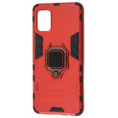 Чехол Armor + подставка Samsung Galaxy A41 (красный)