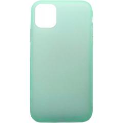 Чехол силиконовый Latex матовый iPhone 11 Pro Max (бирюзовый)