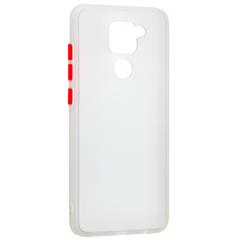 Чехол LikGus Maxshield матовый Xiaomi Redmi Note 9 (белый)