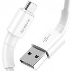 Кабель Baseus Mini Micro USB (белый) 1m