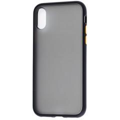 Чехол LikGus Maxshield матовый iPhone XS Max (черно-желтый)