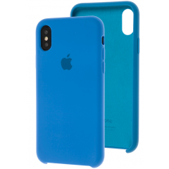 Чехол Silicone Case iPhone Xs Max (светло-синий)