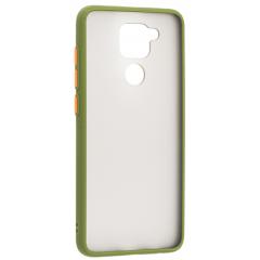 Чехол LikGus Maxshield матовый Xiaomi Redmi Note 9 (зеленый)
