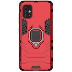 Чехол Armor + подставка Samsung Galaxy A51 (красный)
