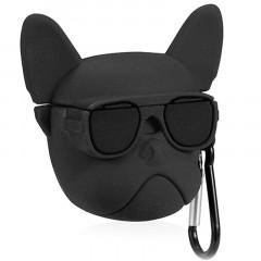 Чехол для AirPods Bulldog с карабином (черный)