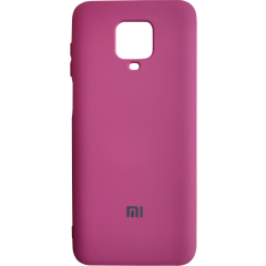 Чехол Silicone Case Xiaomi Redmi Note 9s/9 Pro (бордовый)