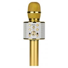 Караоке микрофон-колонка Hoco BK3 Cool (Gold)