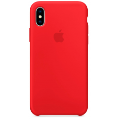 Чехол Silicone Case iPhone Xs Max (красный)