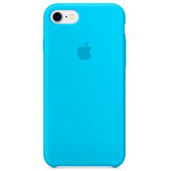 Чехол Silicone Case iPhone 7/8/SE 2020 (голубой)