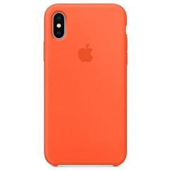Чехол Silicone Case iPhone Xs Max (оранжевый)