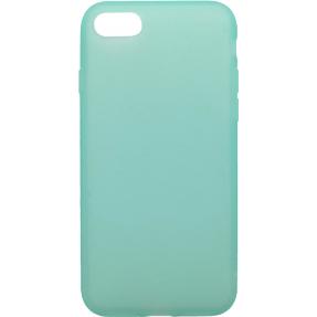 Чехол силиконовый Latex матовый iPhone 7/8 (бирюза)