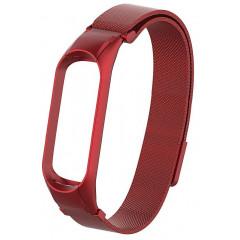 Ремешок для Xiaomi Band 4 Metal Magnit (Red)